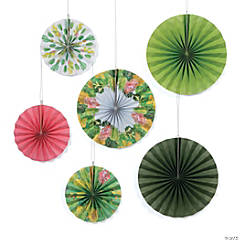 Cactus Shower Hanging Paper Fan Decorations