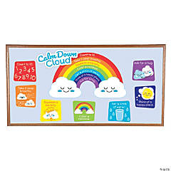 Calm Down Cloud Mini Bulletin Board Set