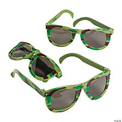 Camouflage Army Sunglasses - 12 Pc.