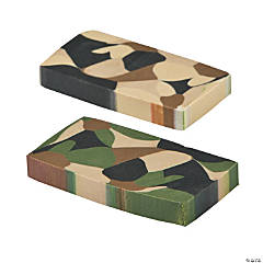 Camouflage Erasers - 24 Pc.