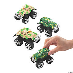Camouflage SUV Pull-Back Toys