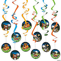Camp Adventure Hanging Swirl Decorations - 12 Pc.