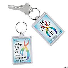 Cancer Awareness Faith Keychains