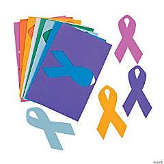Cancer Awareness Ribbon Shapes