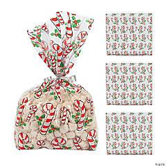 Candy Cane Cellophane Bags