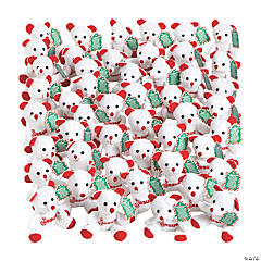 Candy Cane Religious Stuffed Bears with Card - 48 Pc.