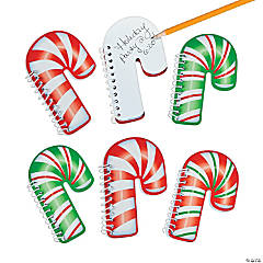 Candy Cane Spiral Notepads