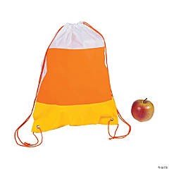 Candy Corn Drawstring Bags