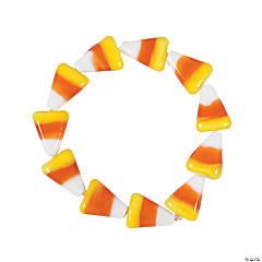 Candy Corn Pony Bead Bracelets
