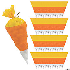 Candy Corn-Shaped Cellophane Bags