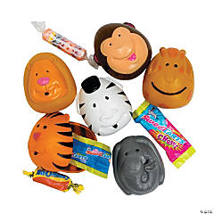Candy-Filled Animal Plastic Easter Eggs - 12 Pc.