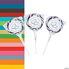 Candy Personalized Two Hearts Swirl Pops