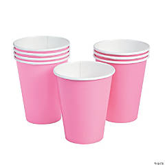Candy Pink Paper Cups - 24 Ct.