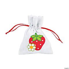 Canvas Berry 1st Birthday Drawstring Bags