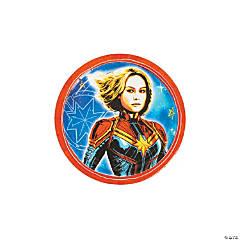 Captain Marvel™ Round Paper Dessert Plates - 8 Ct.