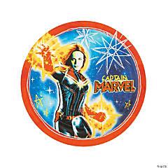 Captain Marvel™ Round Paper Dinner Plates - 8 Ct.