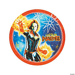Captain Marvel™ Round Paper Dinner Plates