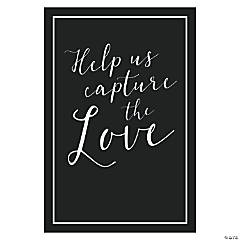 Capture the Love Wedding Hashtag Sign