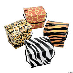 Card Stock Animal Print Boxes with Rope Handles