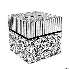 Card Stock Black And White Wedding Card Box