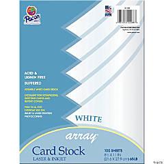 Card Stock, Classic White, 8-1/2