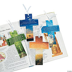 Card Stock Religious Cross Bookmark with Live Photography