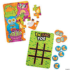 Cardboard 12-Pc. Puzzles with Tic-Tac-Toe Game