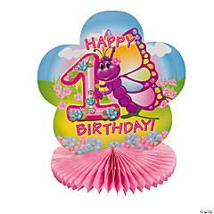 Cardboard 1st Birthday Butterfly Centerpiece