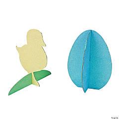 Cardboard 3D Egg & Chick Glitter Centerpieces