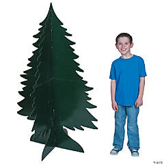 Cardboard 3D Evergreen Tree Stand-Ups