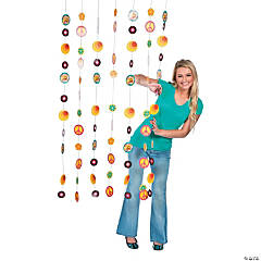 Cardboard 70s Party Door Curtain