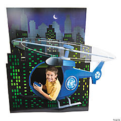 Cardboard Agents of Truth 3D Helicopter Stand-Up