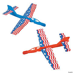 Cardboard And Plastic Patriotic Flying Jets