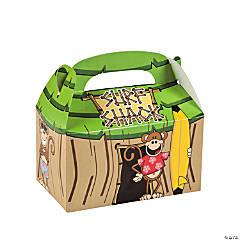 Cardboard Beach Monkey Tiki Hut Treat Boxes