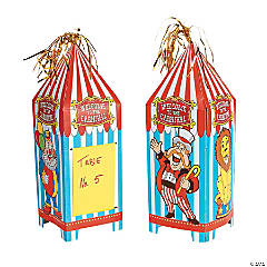 Cardboard Big Top Tabletop Centerpieces