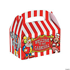 Cardboard Big Top Treat Boxes