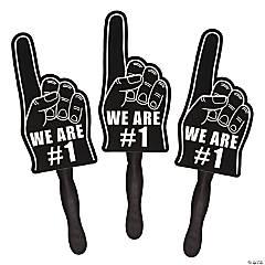 Cardboard Black We're #1 Finger Fans