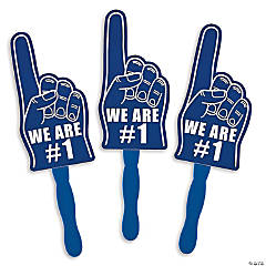 Cardboard Blue We're #1 Finger Fans