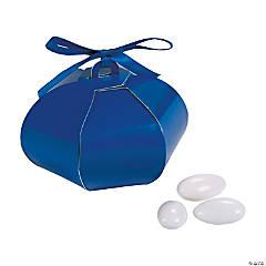 Cardboard Blue Wedding Sphere Favor Boxes
