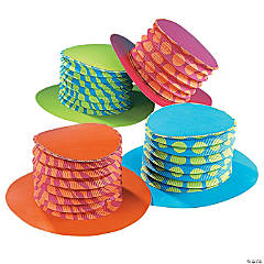 Cardboard Bright Accordion Top Hats