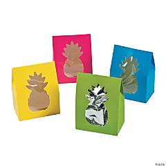 Cardboard Bright Pineapple Treat Boxes