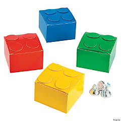 Cardboard Color Brick Party Favor Boxes