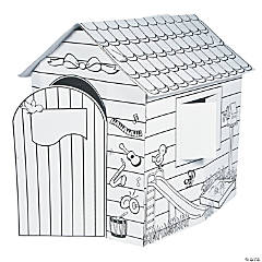 Cardboard Color Your Own Playhouse