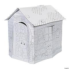 Cardboard Color Your Own Santa's Workshop Playhouse