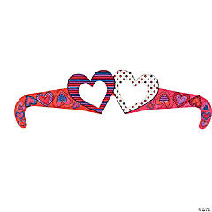 Cardboard Color Your Own Valentine's Day Glasses