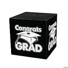 Cardboard Congrats Grad Black Card Box