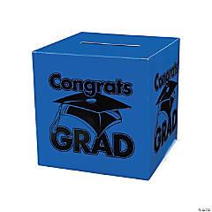 "Cardboard ""Congrats Grad"" Blue Card Box"