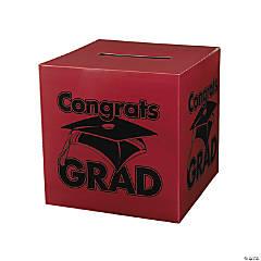 Cardboard Congrats Grad Burgundy Card Box