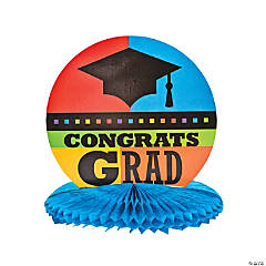 "Cardboard ""Congrats Grad"" Centerpiece"