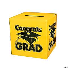 Cardboard Congrats Grad Yellow Card Box